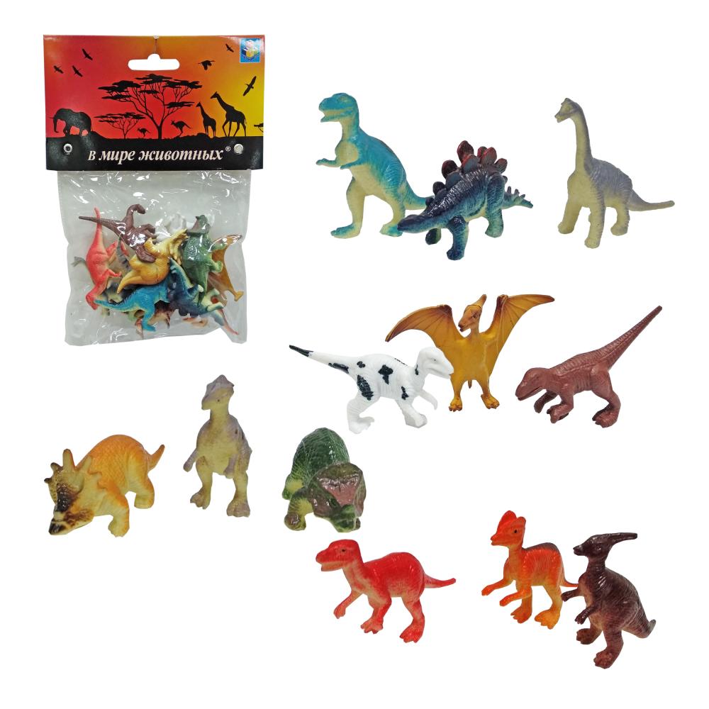 Игровой набор фигурок динозавров - В мире животных, 12 фигурок фото