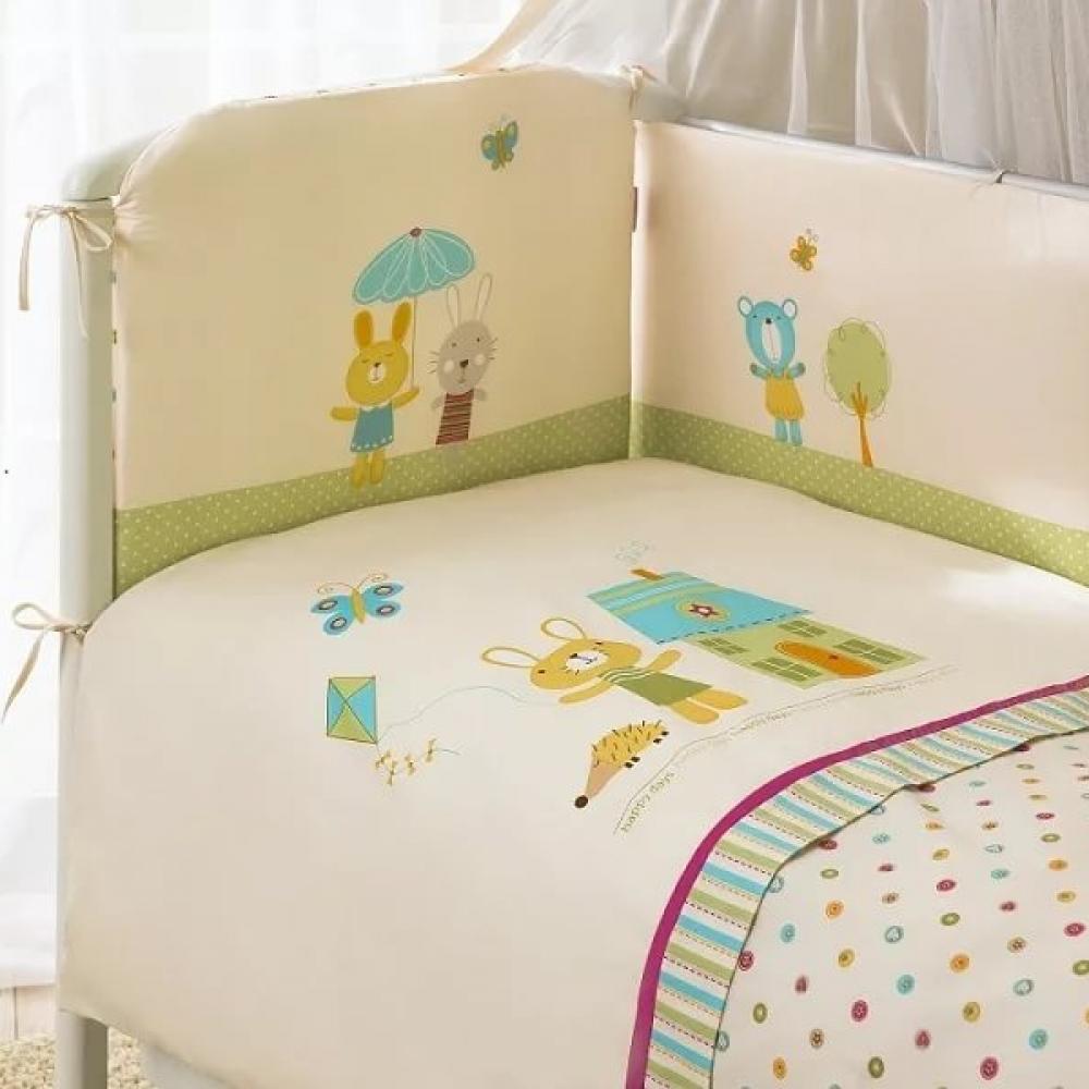 Комплект постельного белья из 3 предметов – Глория, бежевыйДетское постельное белье<br>Комплект постельного белья из 3 предметов – Глория, бежевый<br>