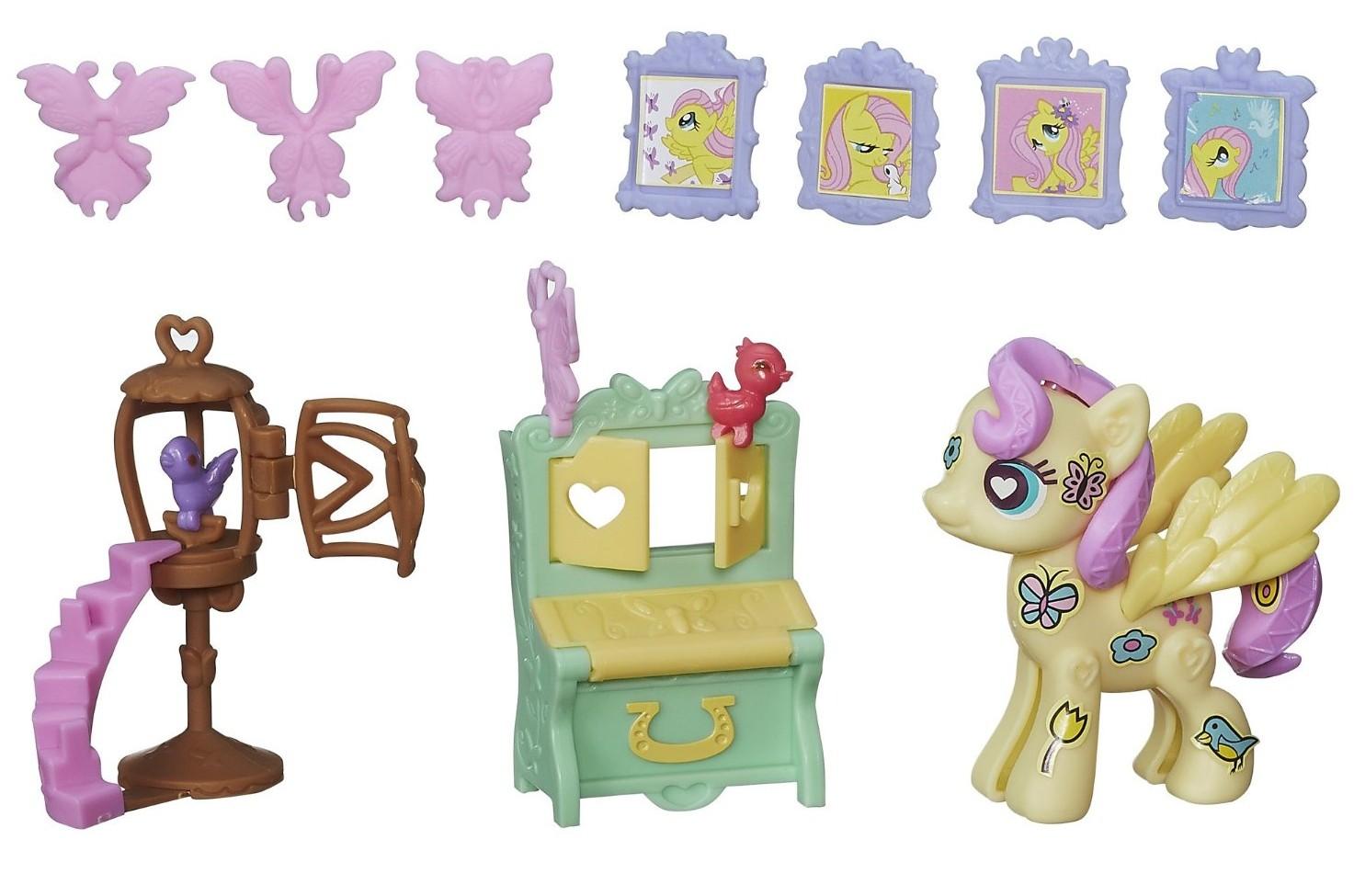 Купить Поп-конструктор из серии My Little Pony Флаттершай на вечеринке, Hasbro