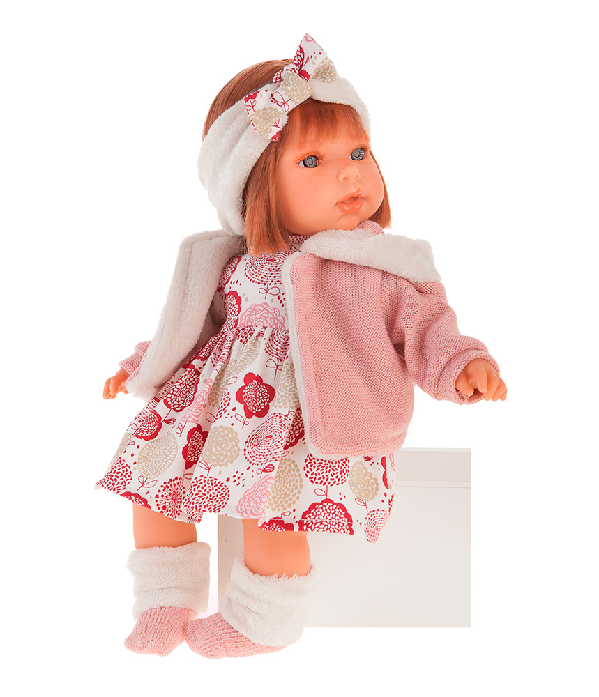 Купить Кукла Валентина в розовом 37 см., озвученная, говорит мама и папа, смех, Antonio Juan Munecas