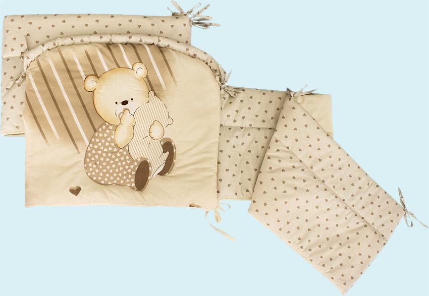 Бампер - Мишутка, бежевыйДетское постельное белье<br>Бампер - Мишутка, бежевый<br>