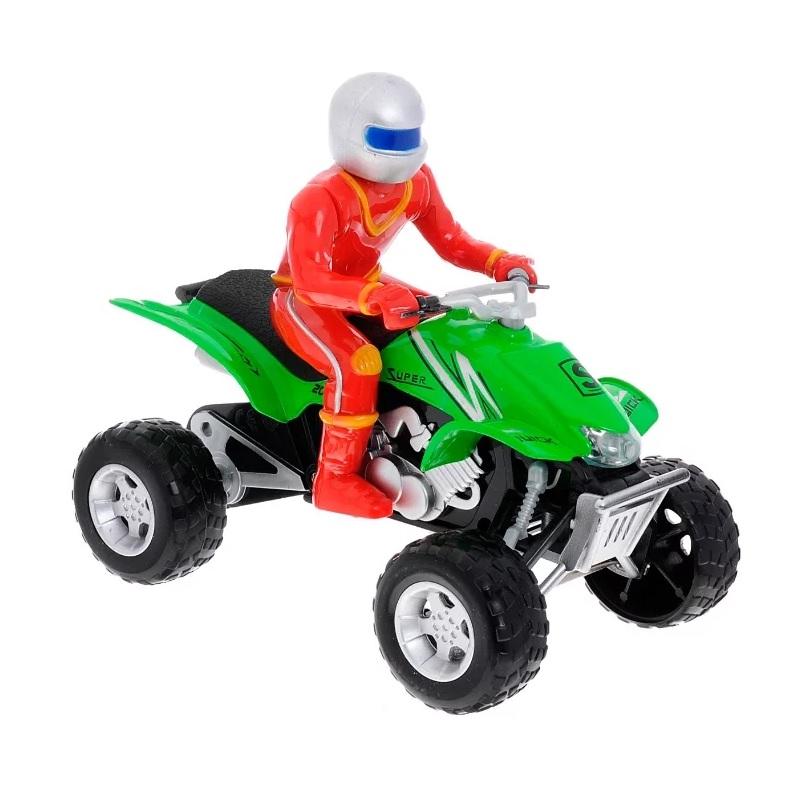 Купить Квадроцикл металлический с фигуркой, со светом и звуком, Технопарк