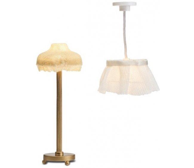 Купить Освещение для кукольного домика - Торшер и лампа с абажуром, Lundby