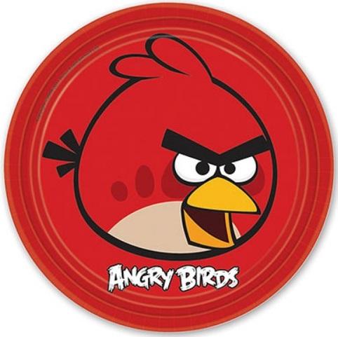Тарелка Angry Birds, 23 см, 8 штук от Toyway