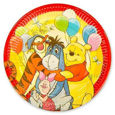 Тарелки Винни-Пух и друзья, 23 см, 8 штукВинни Пух<br>Тарелки Винни-Пух и друзья, 23 см, 8 штук<br>