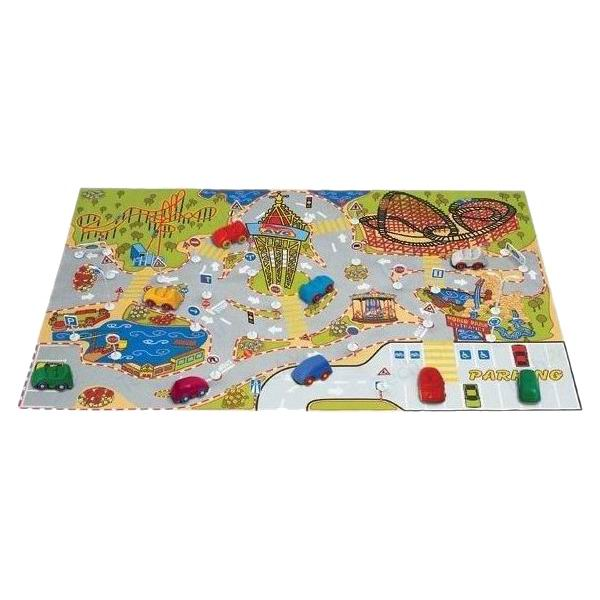 Игровой коврик с дорожными знаками - Детские парковки и гаражи, артикул: 175362