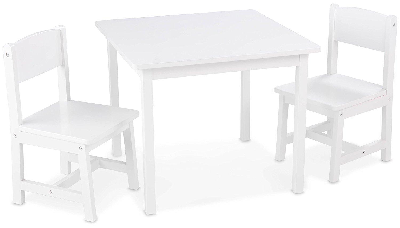 Набор мебели Aspen – стол + 2 стула, белый - Игровые столы и стулья, артикул: 164838