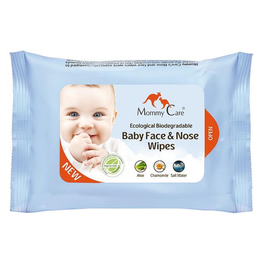 Купить Детские влажные салфетки Nose and face wipers для лица и носиков, 24 шт., Mommy Care
