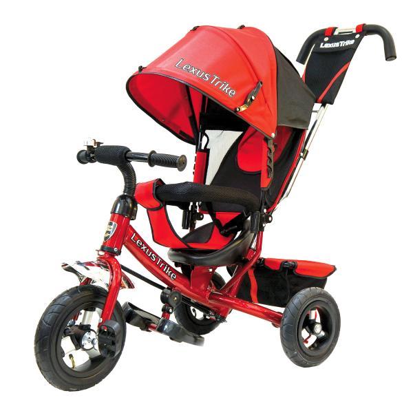 Купить Велосипед 3-колесный Lexus Trike, колеса Eva 10 и 8 , регулируемая спинка, задний тормоз, цвет - красный