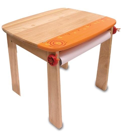 Im Toy Стол для рисования с держателем для рулона бумаги и контейнером, оранжевый