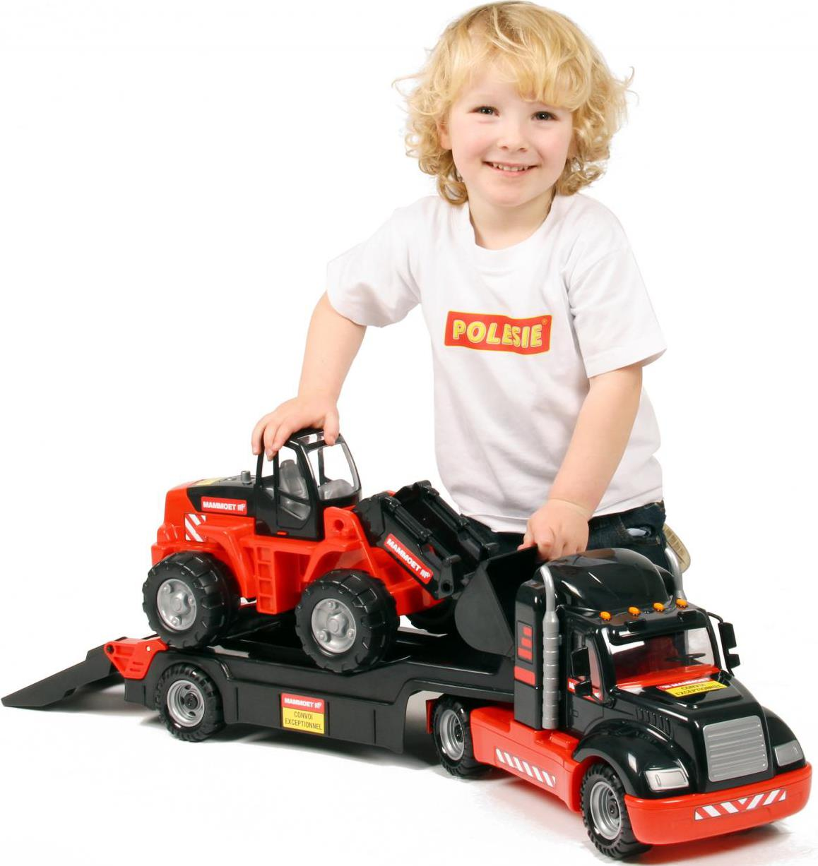 Автомобиль-трейлер и трактор-погрузчикИгрушечные тракторы<br>Автомобиль-трейлер и трактор-погрузчик<br>