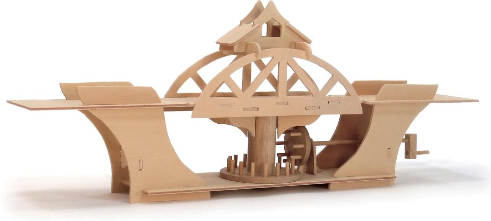 Модель деревянная сборная - Мост вращающийсяКонструкторы других производителей<br>Модель деревянная сборная - Мост вращающийся<br>