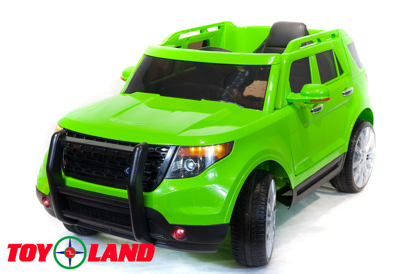 Электромобиль Ford Explorer зеленого цветаЭлектромобили, детские машины на аккумуляторе<br>Электромобиль Ford Explorer зеленого цвета<br>