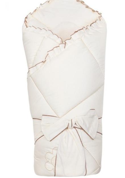 Конверт - одеяло на выписку из серии Ромашки, сезон весна, цвет бежевыйКомплекты на выписку<br>Конверт - одеяло на выписку из серии Ромашки, сезон весна, цвет бежевый<br>