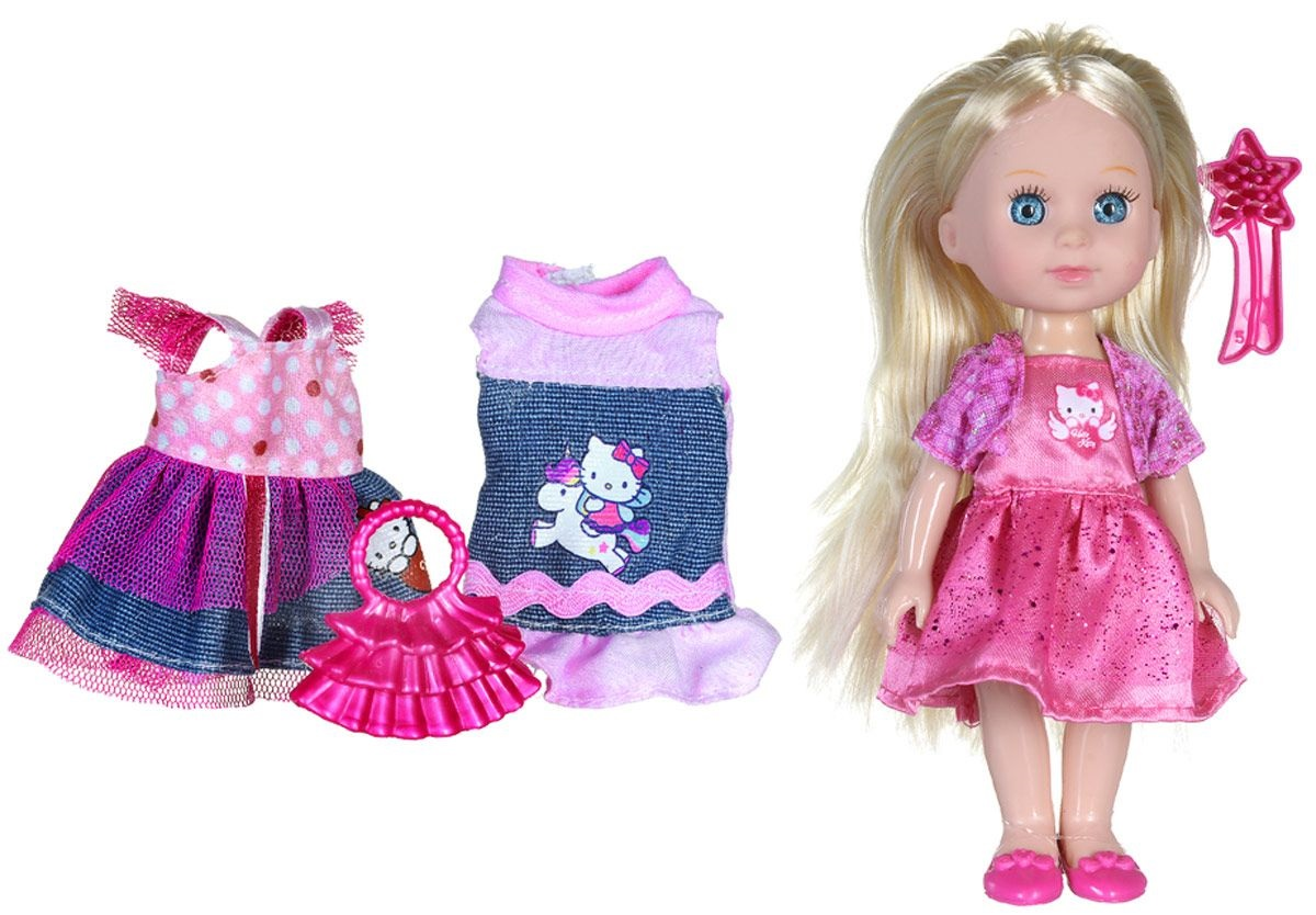 Кукла Hello Kitty – Машенька, 15 см озвученная, с набором одеждыКуклы Карапуз<br>Кукла Hello Kitty – Машенька, 15 см озвученная, с набором одежды<br>
