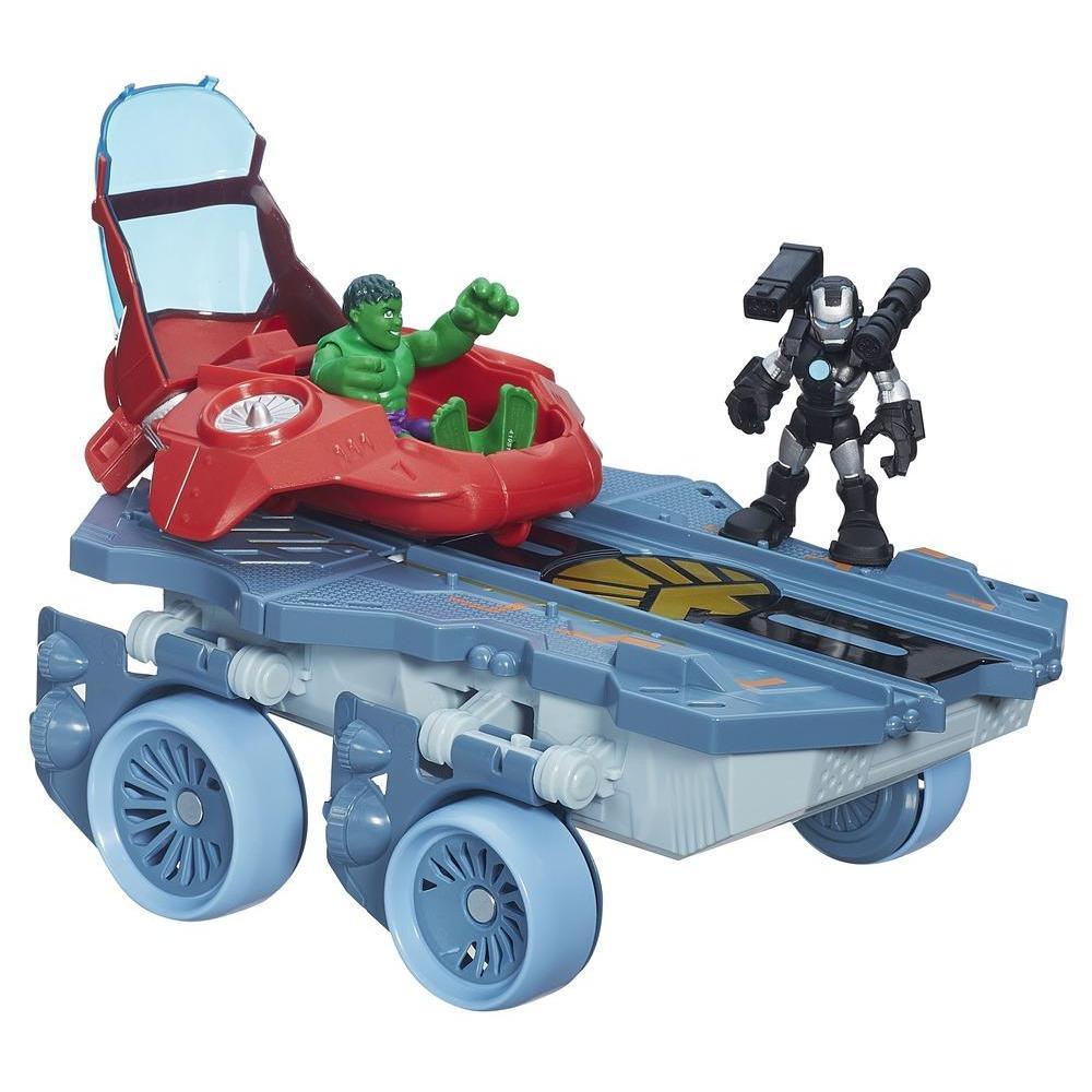 Вертолетоносец-автомобиль Playskool HeroesAvengers (Мстители)<br>Вертолетоносец-автомобиль Playskool Heroes<br>