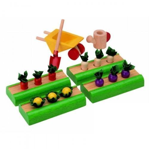 Купить Игровой набор из дерева - Овощные грядки, Plan Toys