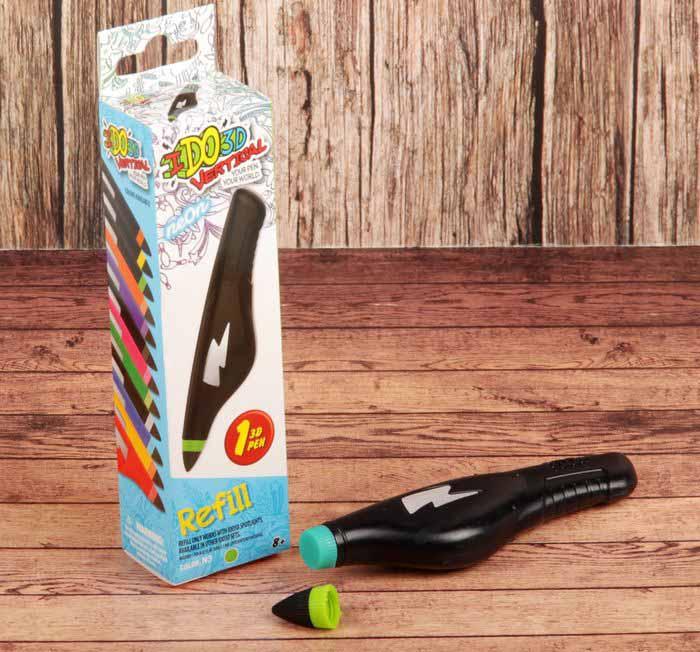 Картридж для 3D ручки Вертикаль, неоновый зеленый фото