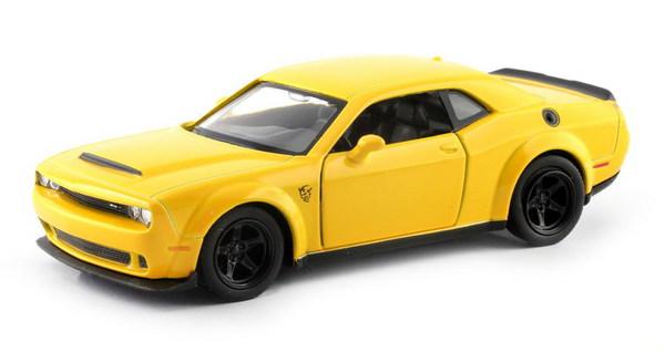 Купить Металлическая машина - Dodge Challenger SRT Demon 2018, 1:32, желтый, RMZ City