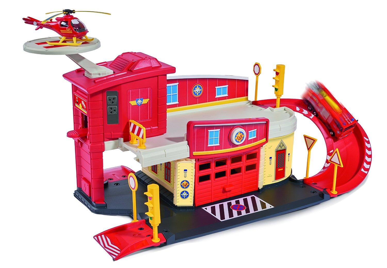 Пожарный гараж с аксессуарами и вертолет из серии «Пожарный Сэм» - Игрушки из рекламы, артикул: 131673