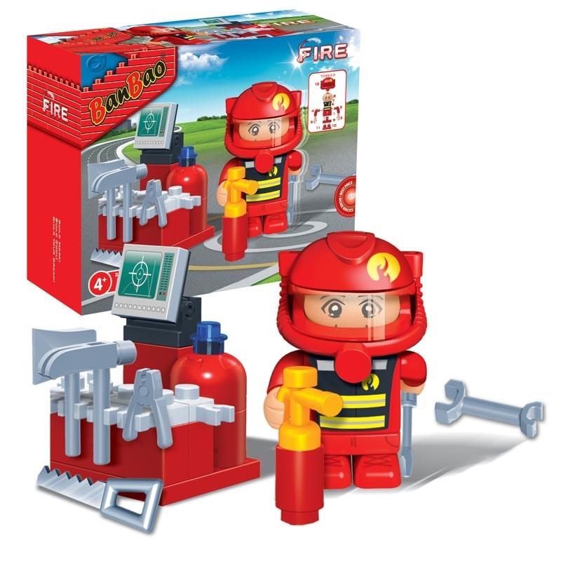 Конструктор - Пожарный, 25 деталейКонструкторы BANBAO<br>Конструктор - Пожарный, 25 деталей<br>