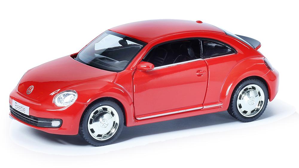 Купить Металлическая инерционная машина RMZ City - Volkswagen New Beetle 2012, 1:32, красный матовый