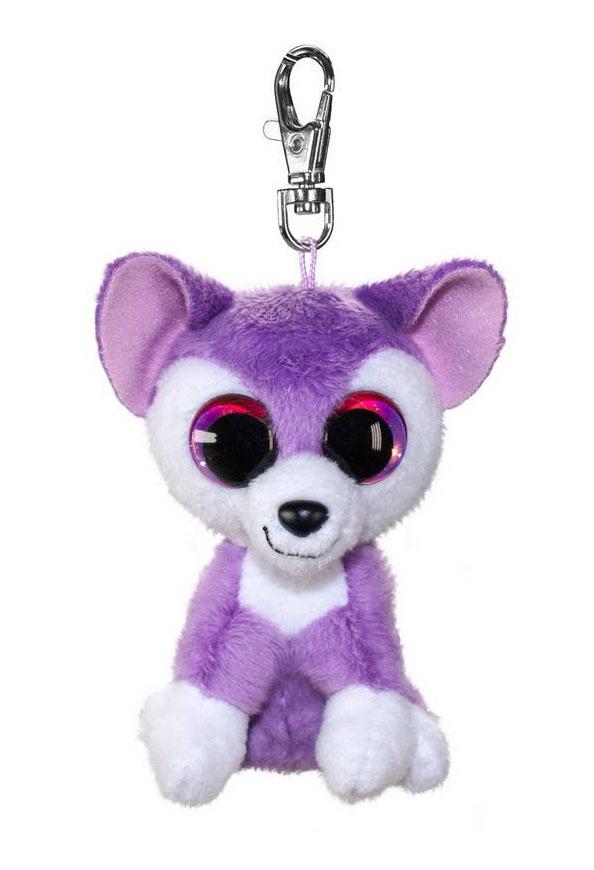 Брелок - Волк Susi, фиолетовый, 8,5 см