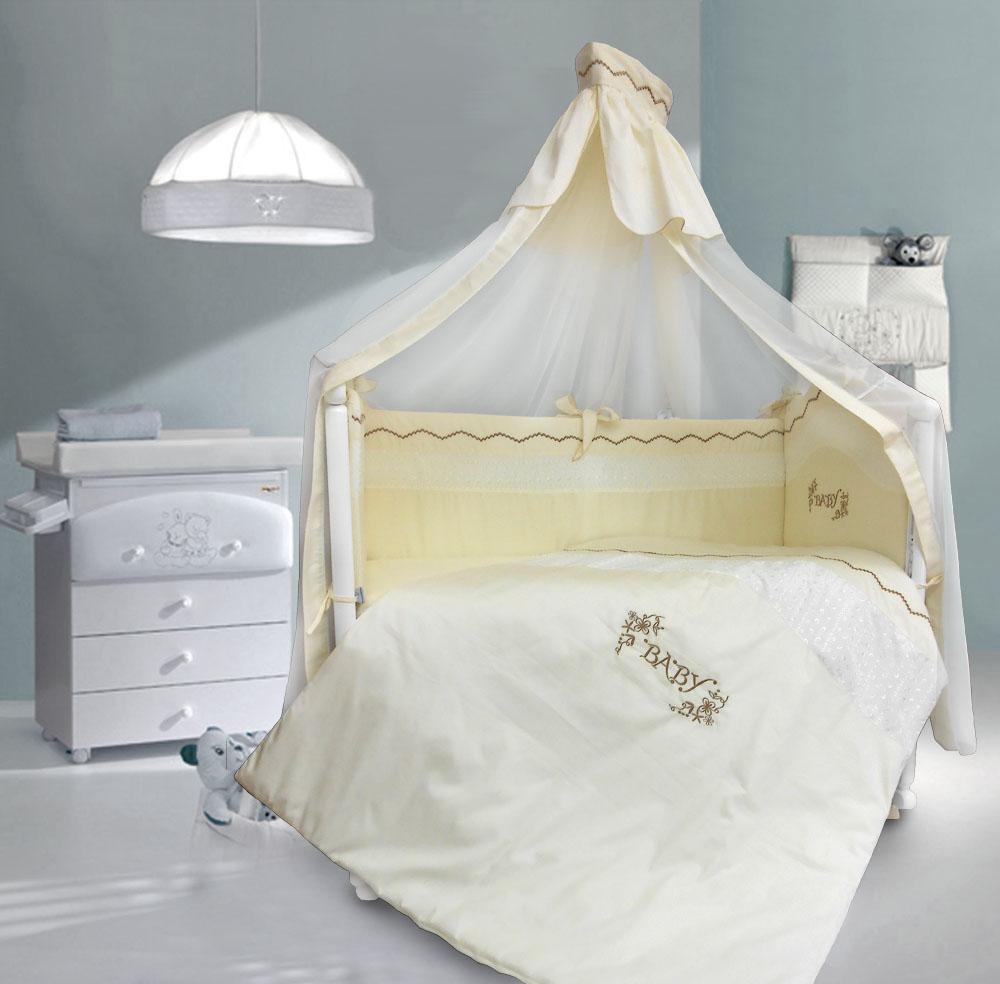 Комплект в кроватку - Изабэль, 7 предметовДетское постельное белье<br>Комплект в кроватку - Изабэль, 7 предметов<br>