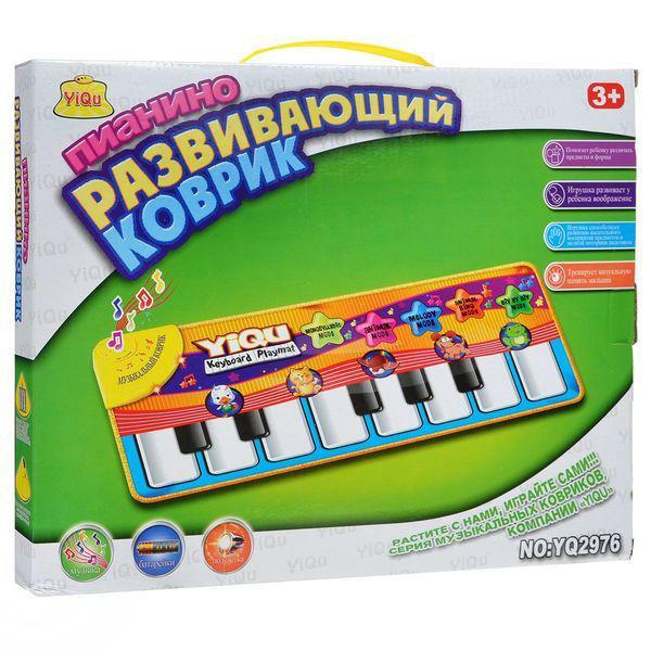 Развивающий коврик Пианино, со светом и звукомМикрофоны и танцевальные коврики<br>Развивающий коврик Пианино, со светом и звуком<br>