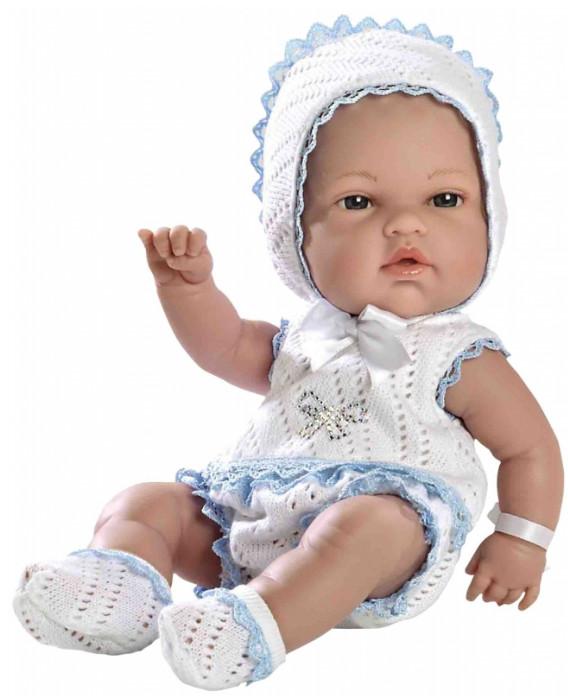 Купить Кукла из коллекции Elegance – Пупс виниловый в бело-голубом костюмчике со стразами Swarowski, 33 см, Arias