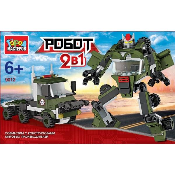 Конструктор – 2 в 1 Робот с грузовикомГород мастеров<br>Конструктор – 2 в 1 Робот с грузовиком<br>