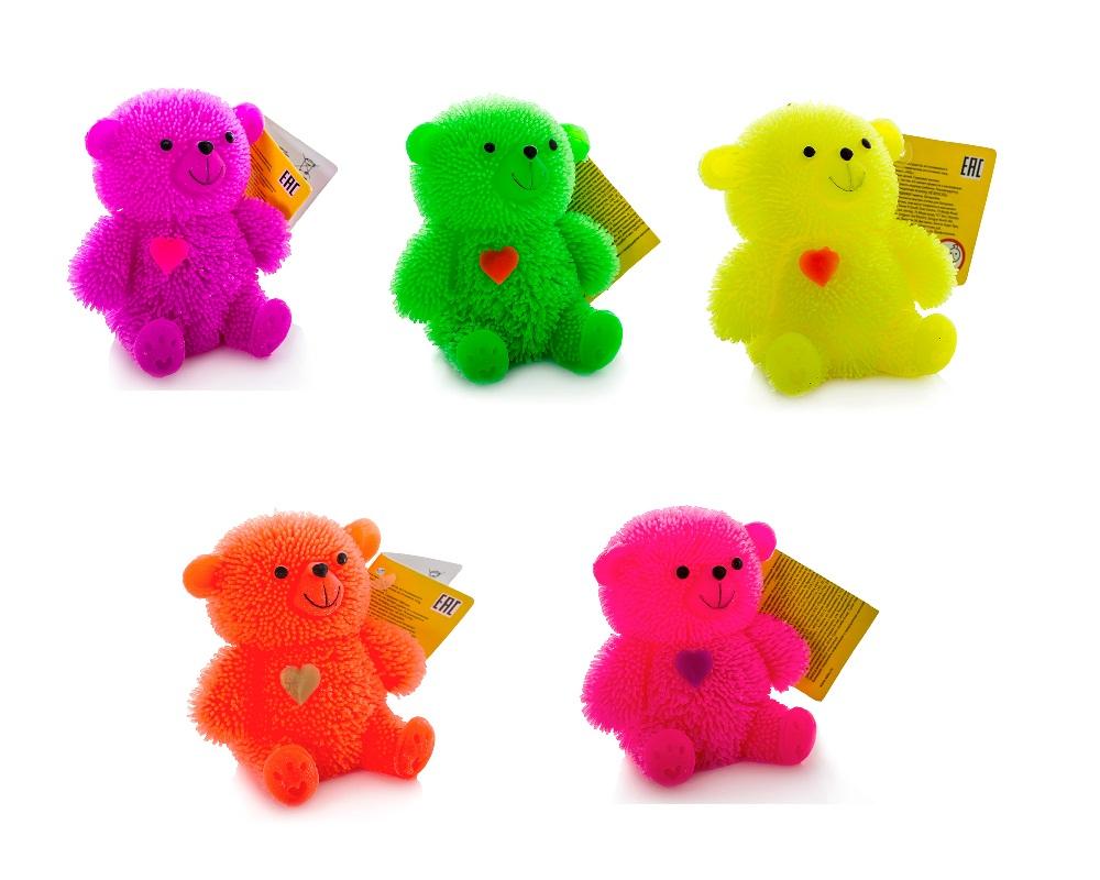 Фигурка медведя с резиновым ворсом с подсветкойРостометры, брелоки и др. игрушки<br>Фигурка медведя с резиновым ворсом с подсветкой<br>