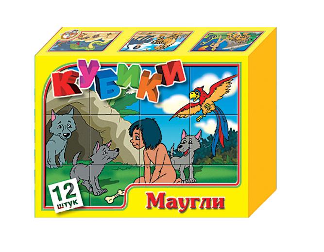 Купить «Маугли» – набор из 12 кубиков, Десятое королевство