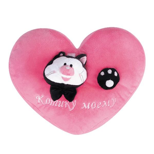 Подушка-сердечко Котику моему, 36 см. Gulliver