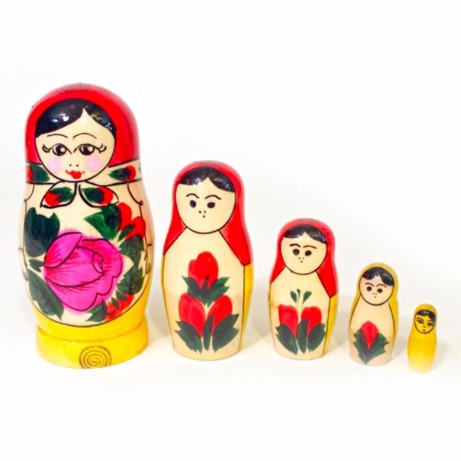 Традиционная матрешка 5 кукольная, 11 смМатрешка<br>Традиционная матрешка 5 кукольная, 11 см<br>
