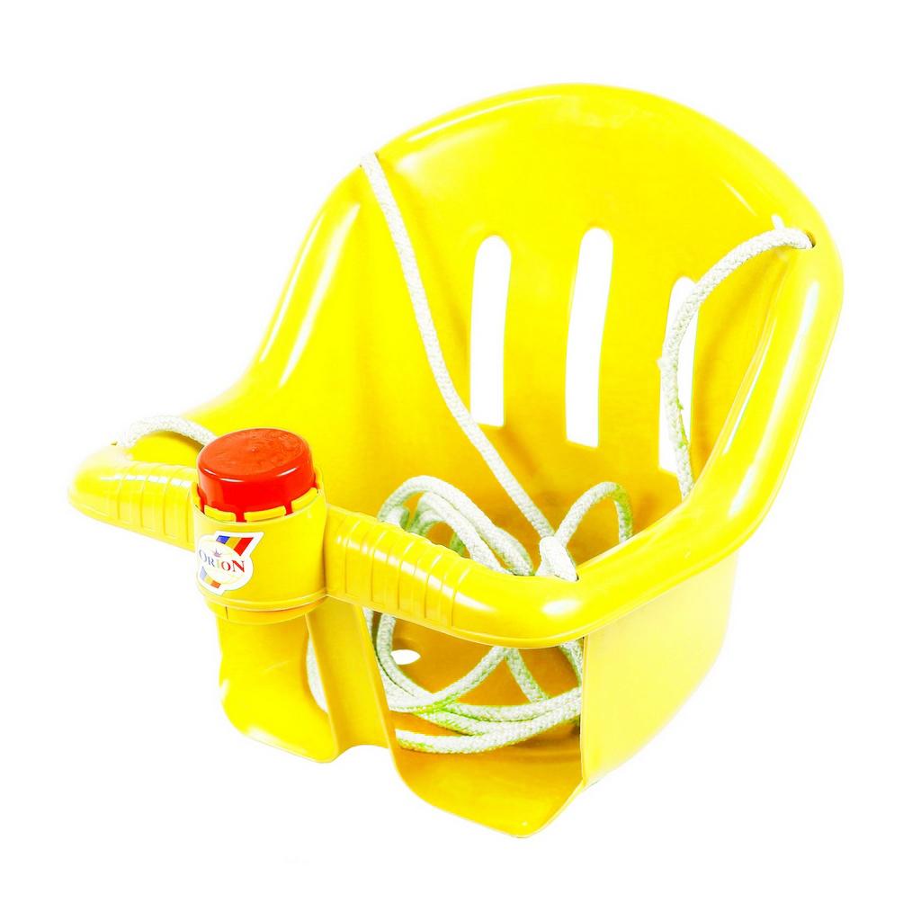Качели с барьером безопасности и клаксоном желтого цветаКачели<br>Качели с барьером безопасности и клаксоном желтого цвета<br>