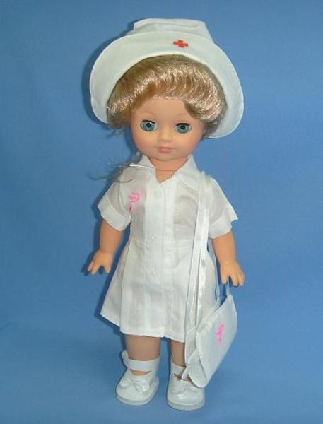 Кукла Элла. Медсестра, со звукомРусские куклы фабрики Весна<br>Кукла Элла. Медсестра, со звуком<br>