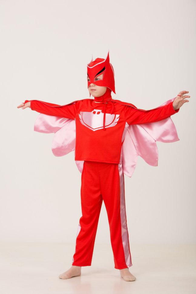 Карнавальный костюм для девочек - Герой в красном, размер 110-56 Батик
