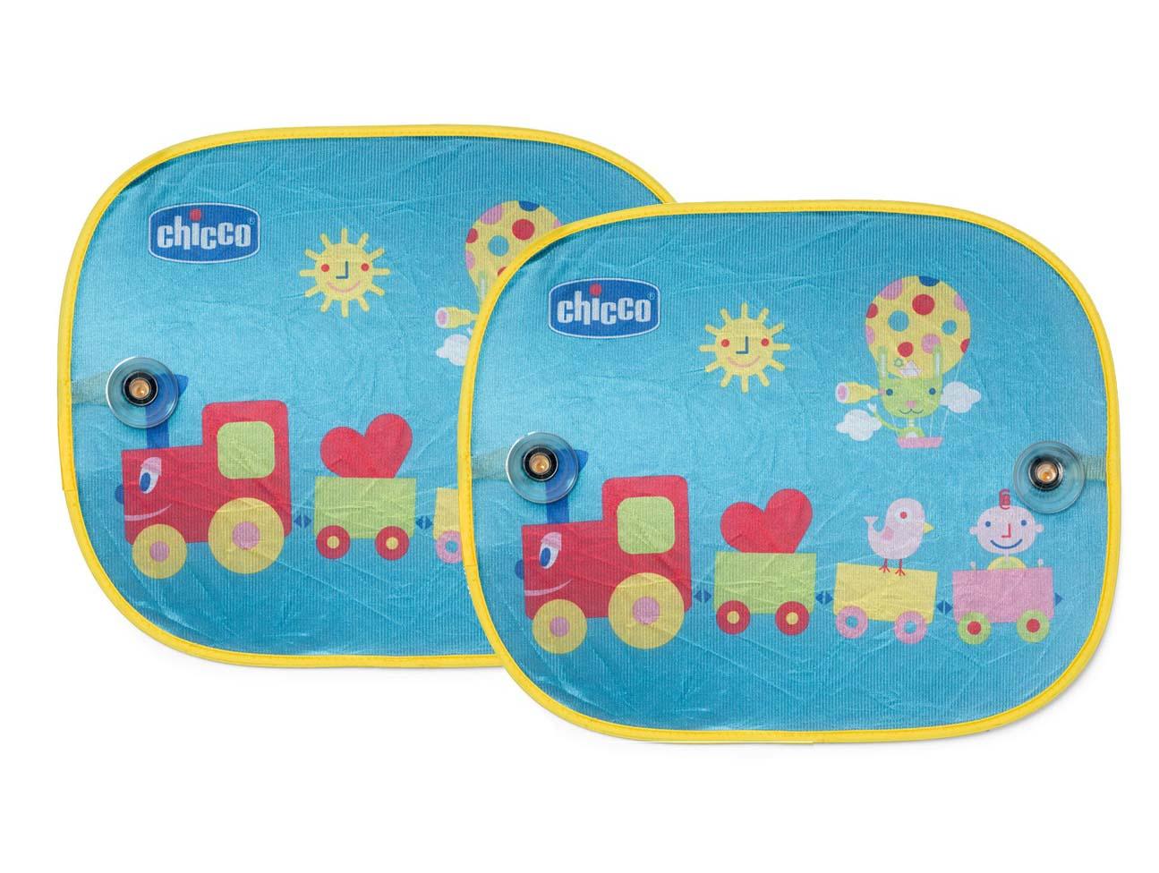 Защитные шторки для автомобиля на присосках - Chicco Safe. Паровозик