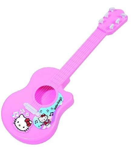 Гитара Hello KittyГитары<br>Детская гитара выполненная в стиле Hello Kitty создана специально для девочек. Очаровательный и модный способ создать много шума в квартире, порадовав тем самым скучающих после работы родителей. А если серьезно, то лучшего средства для того чтобы познаком...<br>