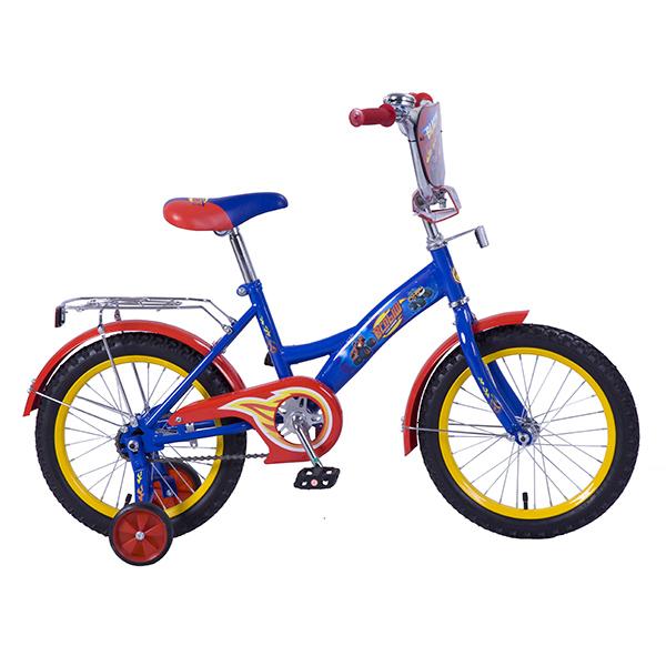 Велосипед детский – Вспыш, сине-красный со страховочными колесамиВелосипеды детские<br>Велосипед детский – Вспыш, сине-красный со страховочными колесами<br>