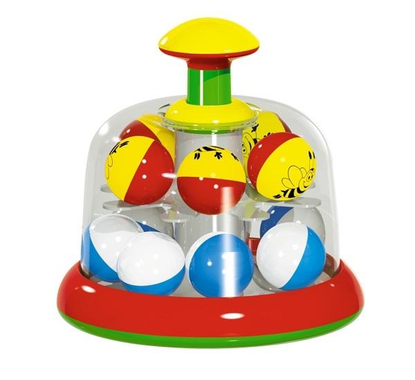 Юла-карусель с шариками, в коробке фото