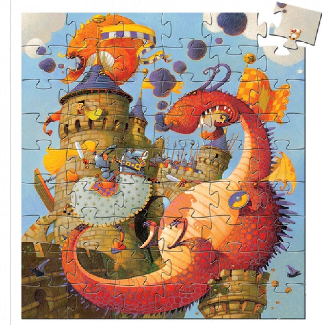Купить Пазл - Рыцарь и дракон, 54 элемента, Djeco