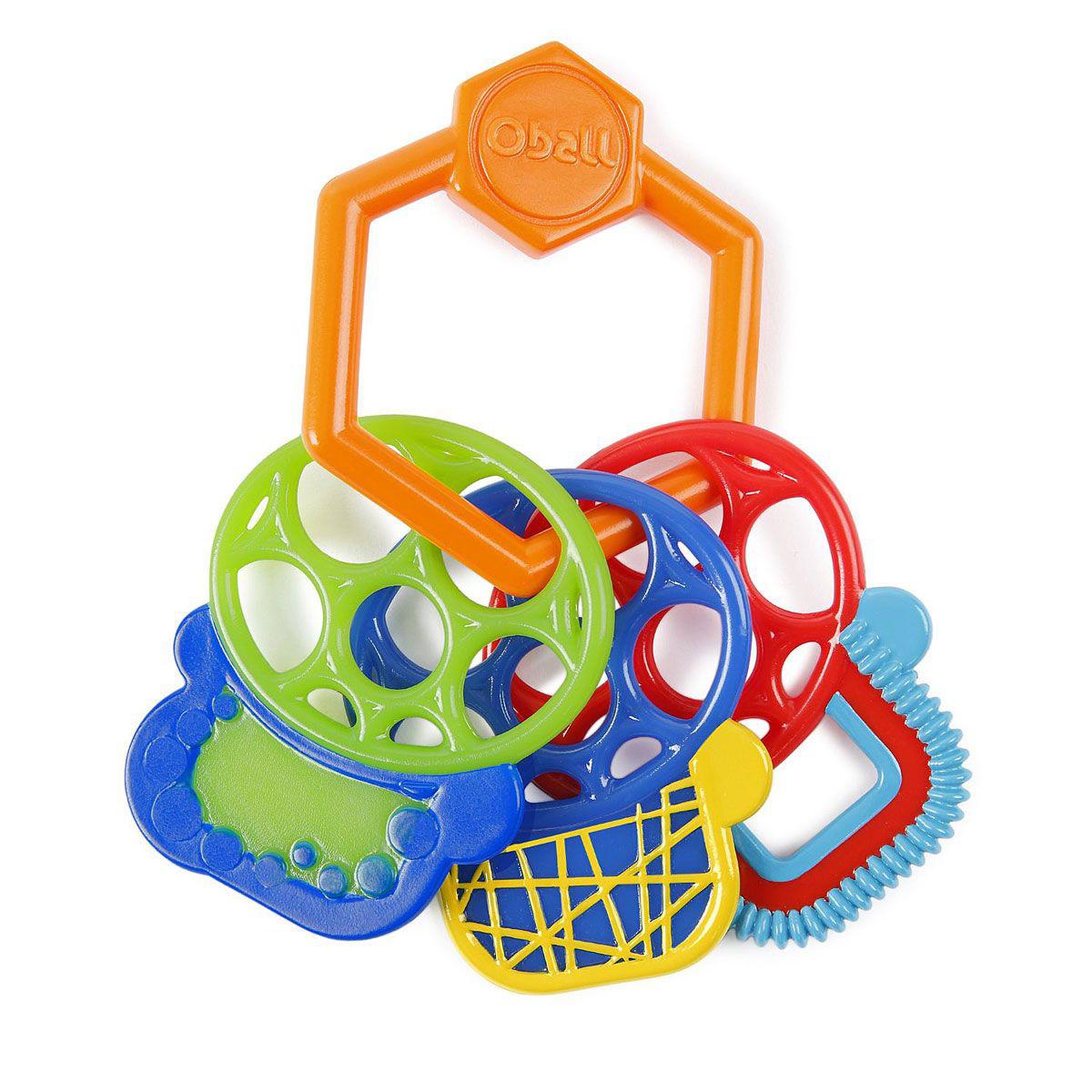 Прорезыватель для зубок - Разноцветные ключикиДетские погремушки и подвесные игрушки на кроватку<br>Прорезыватель для зубок - Разноцветные ключики<br>