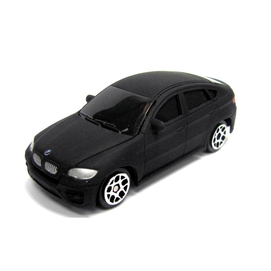 Машина металлическая RMZ City - BMW X6, 1:64, черный матовый цветBMW<br>Машина металлическая RMZ City - BMW X6, 1:64, черный матовый цвет<br>