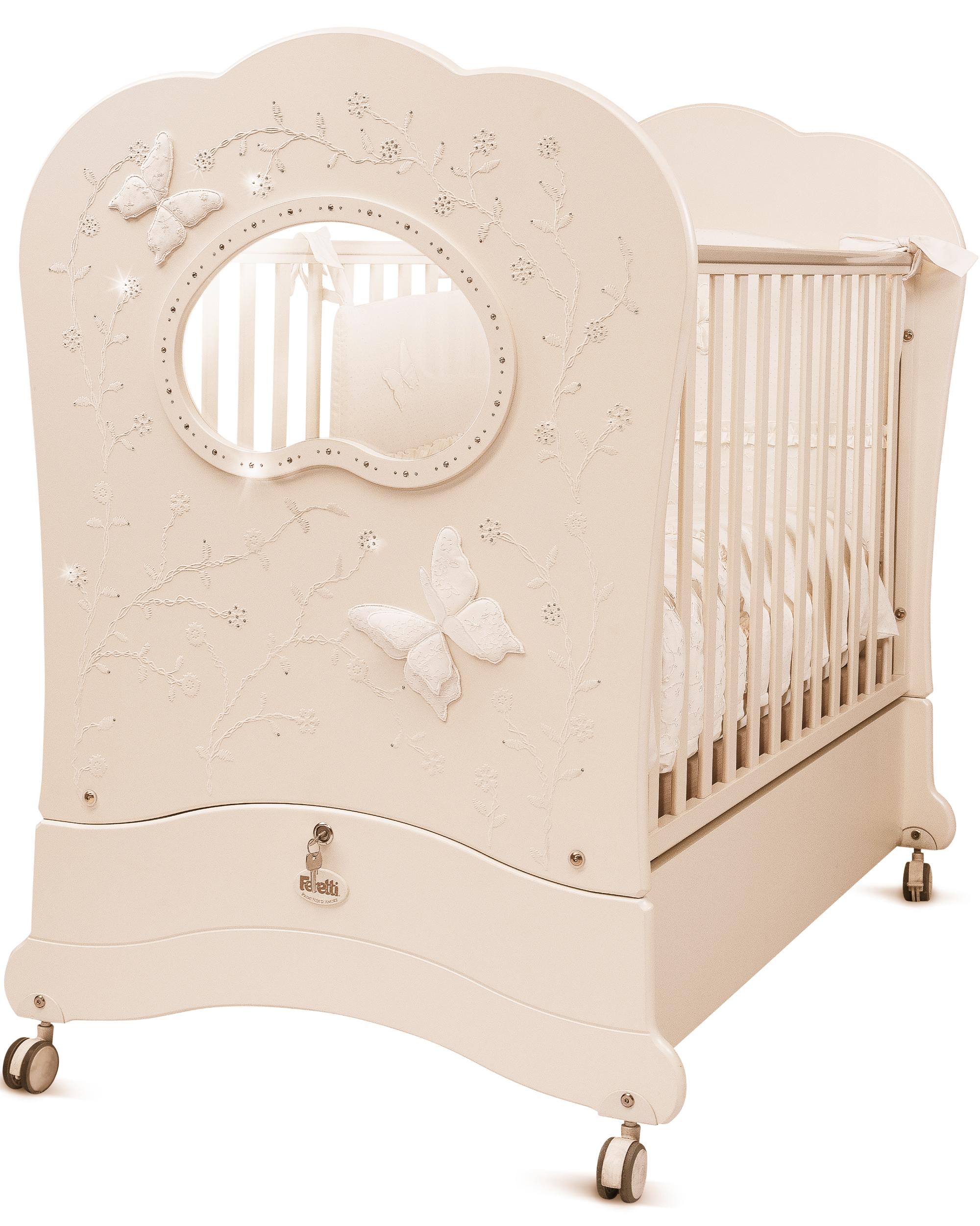 Кровать детская Feretti Fms Oblo Charme Brillante Avorio/ IvoryДетские кровати и мягкая мебель<br>Кровать детская Feretti Fms Oblo Charme Brillante Avorio/ Ivory<br>