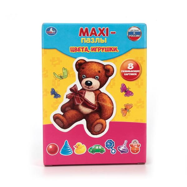 Макси-пазл Цвета, игрушки, 8 развивающих картинокПазлы для малышей<br>Макси-пазл Цвета, игрушки, 8 развивающих картинок<br>