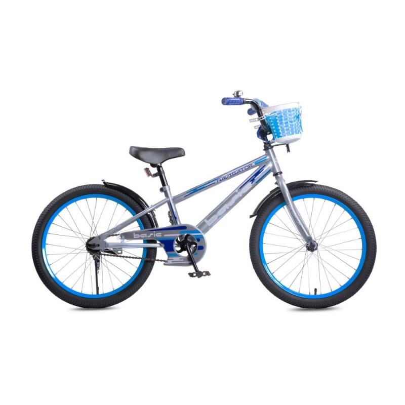 Купить Детский велосипед Basic, колеса 20 , стальная рама и обода, ножной тормоз, Navigator