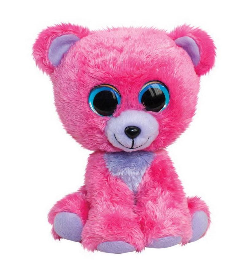 Мягкая игрушка - Мишка Raspberry, розовый, 15 см