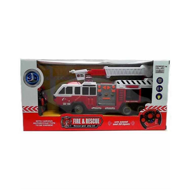 Пожарная машина на радиоуправлении, свет и звукПожарная техника, машины<br>Пожарная машина на радиоуправлении, свет и звук<br>